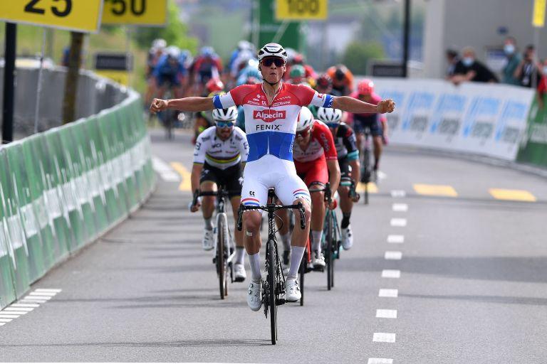 Mathieu van der Poel wins stage three of the Tour de Suisse 2021