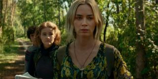 Emily Blunt's Evelyn leading her family to safety
