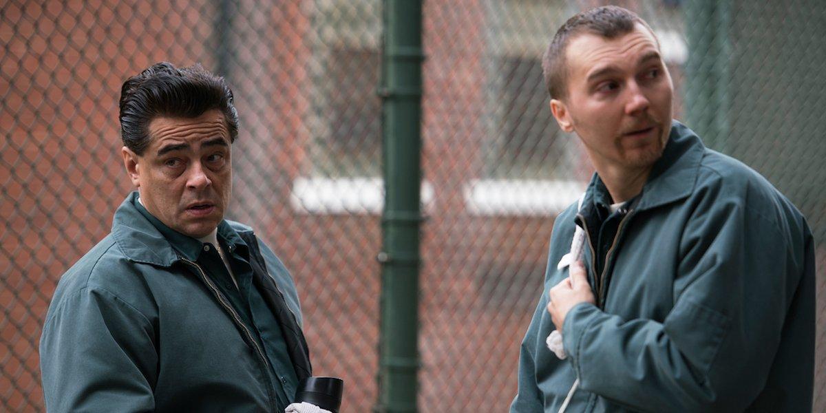 Benicio Del Toro and Paul Dano in Escape at Dannemora