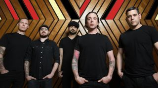 Billy Talent with stand-in drummer Jordan 'Ratbeard' Hastings (second left)
