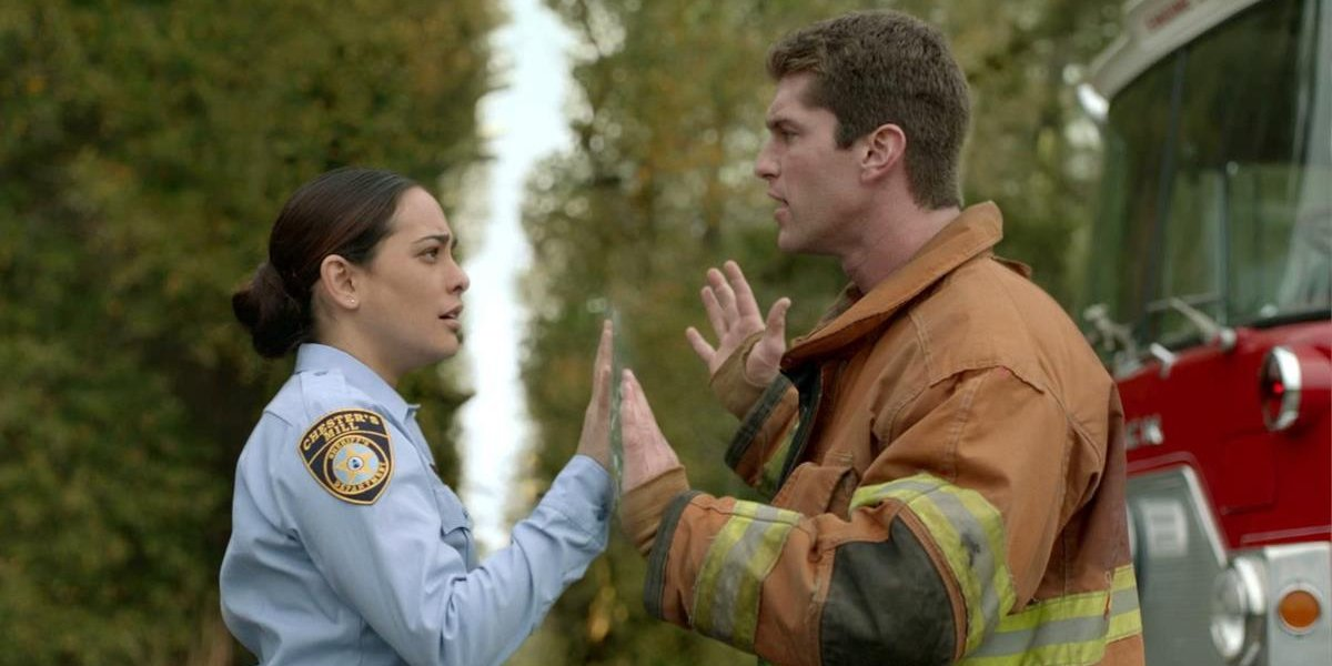 Natalie Martinez and Josh Carter on Under the Dome