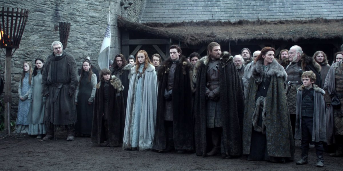 The Stark Family on Game Of Thrones