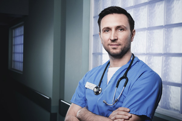 Meet Casualty's newest nurse... Fletch