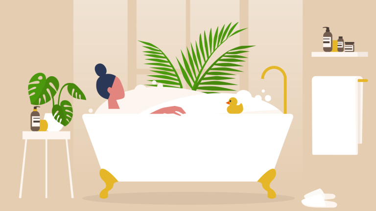 lookfantastic Black Friday sale - illustration of woman in the bath