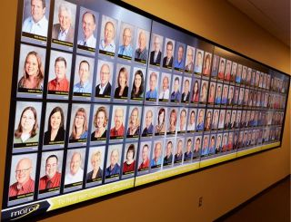 X2O Media Platform Operates Employee Photo Video Wall