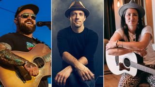 [L-R] Zac Brown, Jason Mraz and KT Tunstall