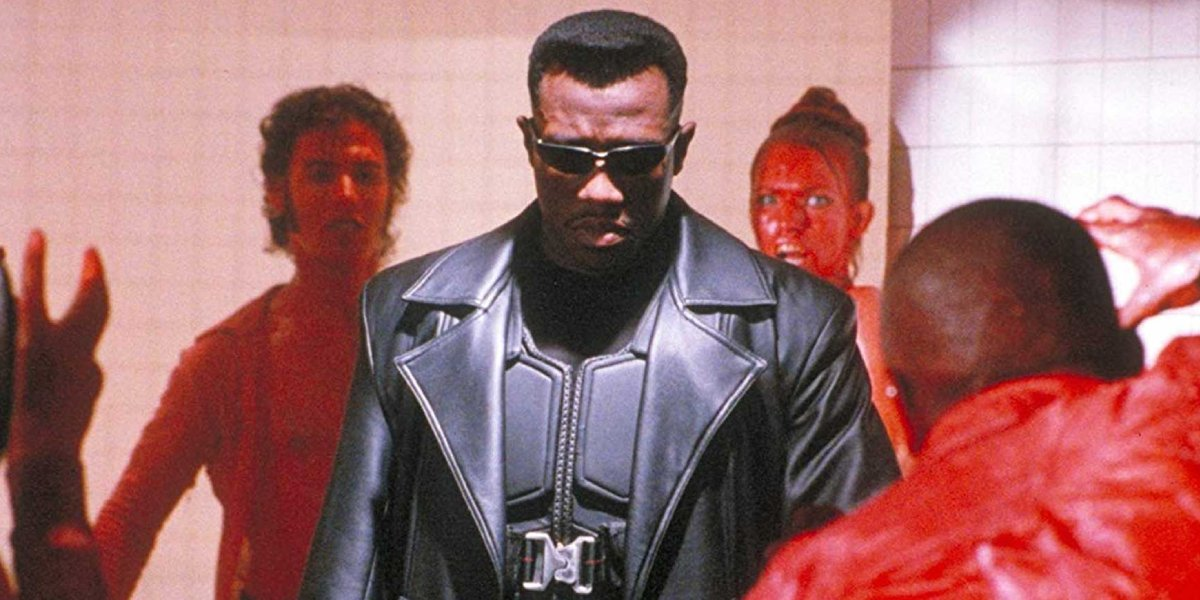 Wesley Snipes in the cinematic debut of Blade