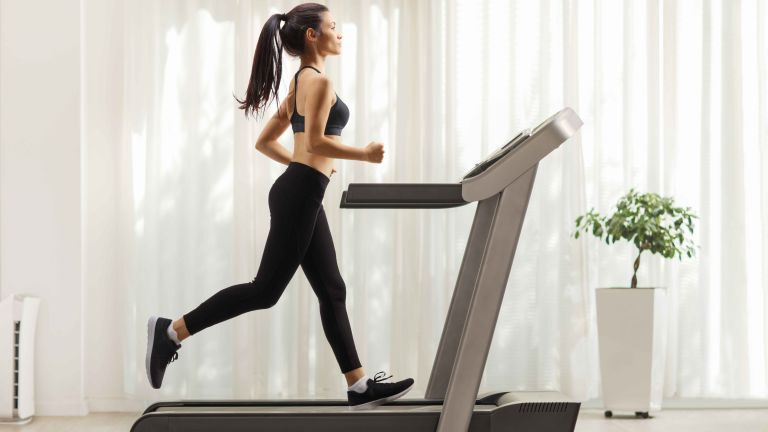 Getty image of woman on treadmill