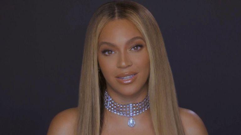 Beyoncé is seen during the 2020 BET Awards.