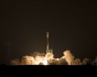 A United Launch Alliance Delta II rocket launches NASA's Soil Moisture Active Passive observatory into space from California's Vandenberg Air Force Base on Saturday, Jan. 31, 2015.