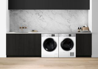 fisher and paykel washing machines in a kitchen