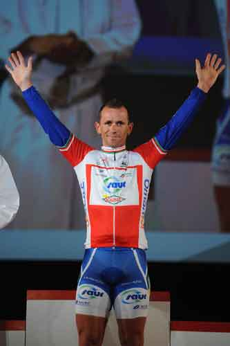 Jimmy Casper wins stage one, Tour of Oman 2010, stage one