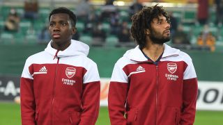 Eddie Nketiah, Mo Elneny and the rest of Arsenal take on Leicester this weekend in the Premier League.