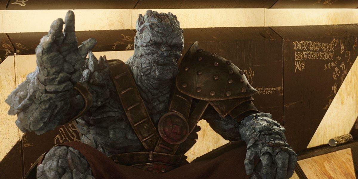 Taika Waititi as Korg in Thor: Ragnarok