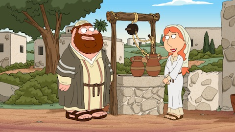 it looks like peter is joseph and lois is mary and meg is the donkey so does that mean we should expect a stewie jesus on the way - Family Guy Christmas Special
