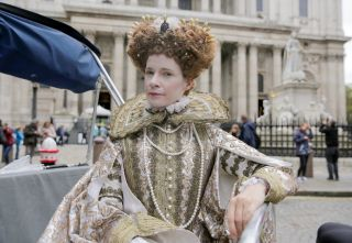 Lucy as Elizabeth I Royal History's Biggest Fibs with Lucy Worsley