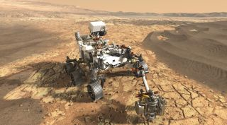 SHERLOC, one of the instruments on the Mars 2020 rover, was cleared to stay on the mission after a termination review earlier this year delayed by the partial government shutdown.