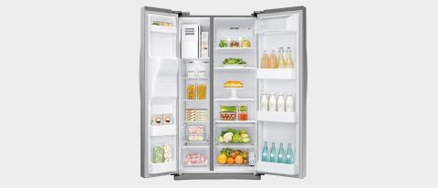 Samsung RS25J500DSR side-by-side refrigerator review