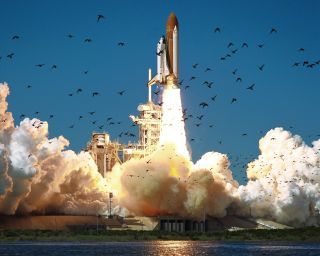 Shuttle Challenger Launch