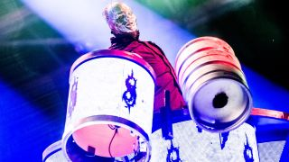 """Shawn """"Clown"""" Crahan of Slipknot performs headlining Day 5 of the 52nd Festival D'été Quebec"""