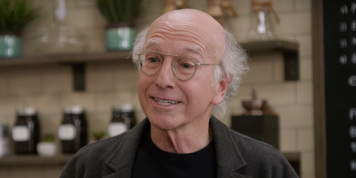 curb your enthusiasm latte larry's smiling