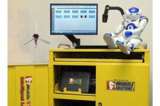 NAO Robot Available for Intelligent Laptop Cart