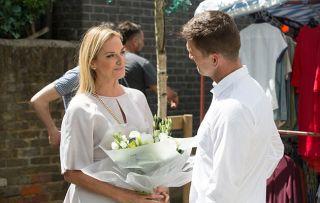 Jack gives Mel flowers