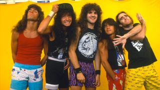 Anthrax backstage at Monsters Of Rock, 1987