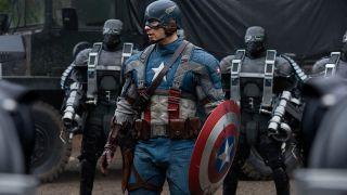 Chris Evans in Captain America: The First Avenger.