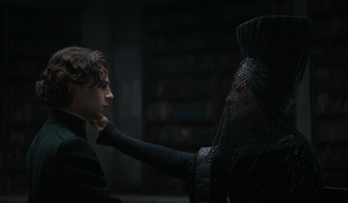 Timothée Chalamet takes the pain test in Dune.