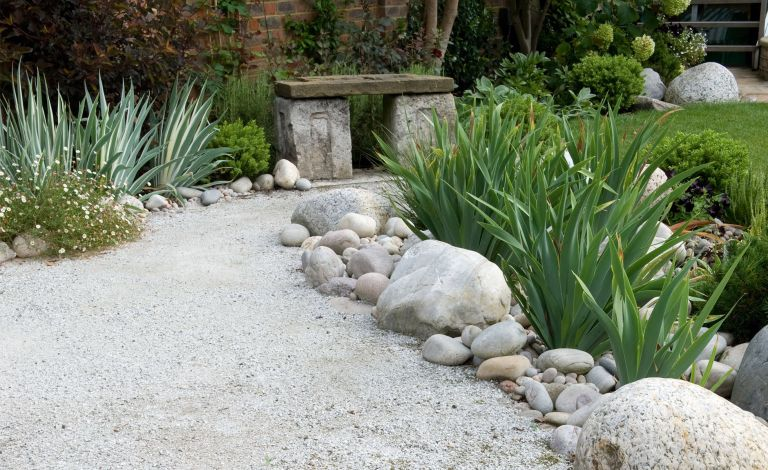 Make a small garden look bigger: zone your garden with a path