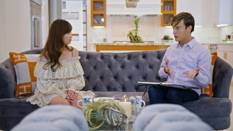 """Cherie with Tyler Henry (Hollywood Medium) in episode 6 """"The Other Side"""" of Bling Empire: Season 1"""