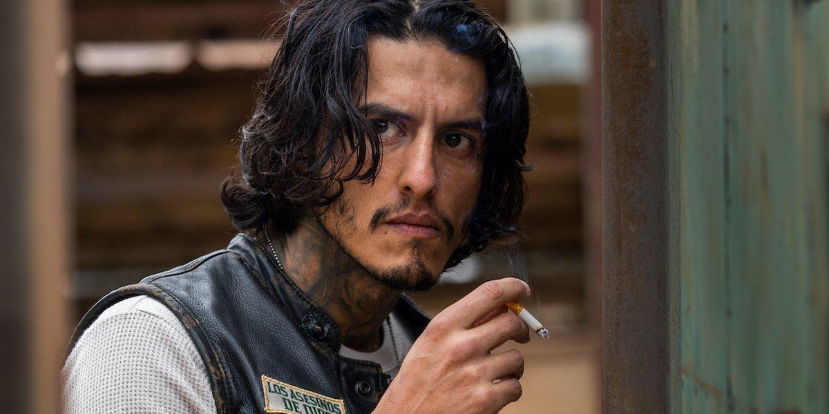 coco smoking a cigarette mayans mc