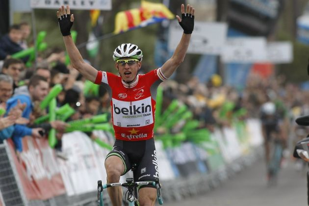 Stef Clement wins stage six of the 2014 Tour of Catalonia