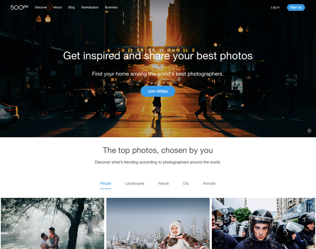 500px screenshot