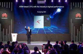 Huawei presents its Kunpeng custom Arm CPU.