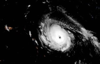 Hurricane Irma was a Category 4 storm on Sept. 4, 2017, when it was swirling in the Caribbean near Puerto Rico.