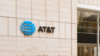AT&T logo on Whitacre Tower