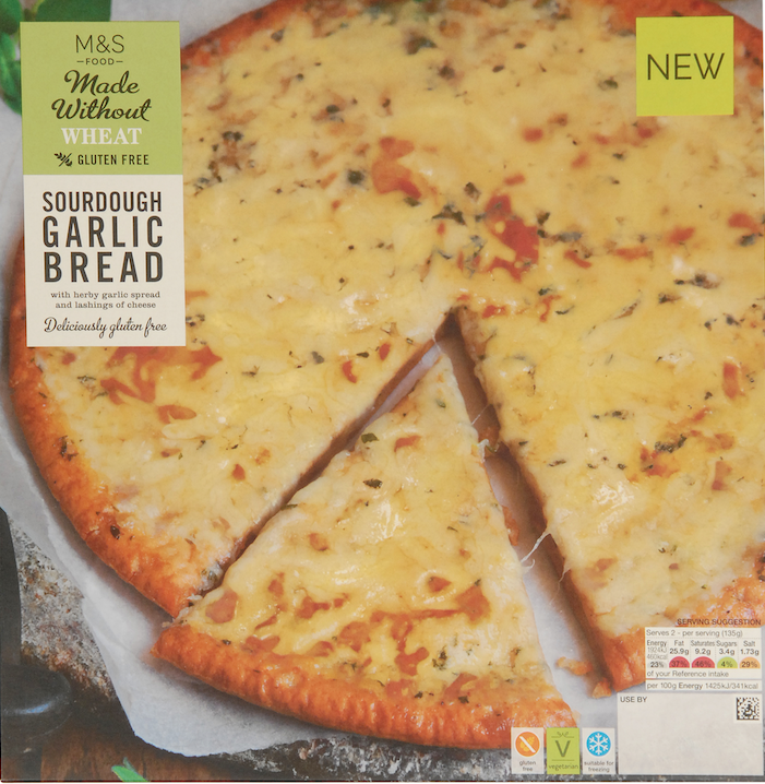 Marks and Spencer introduce gluten-free pizza and garlic