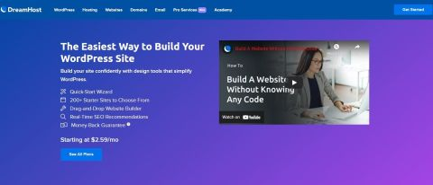DreamHost Website Builder Review Hero