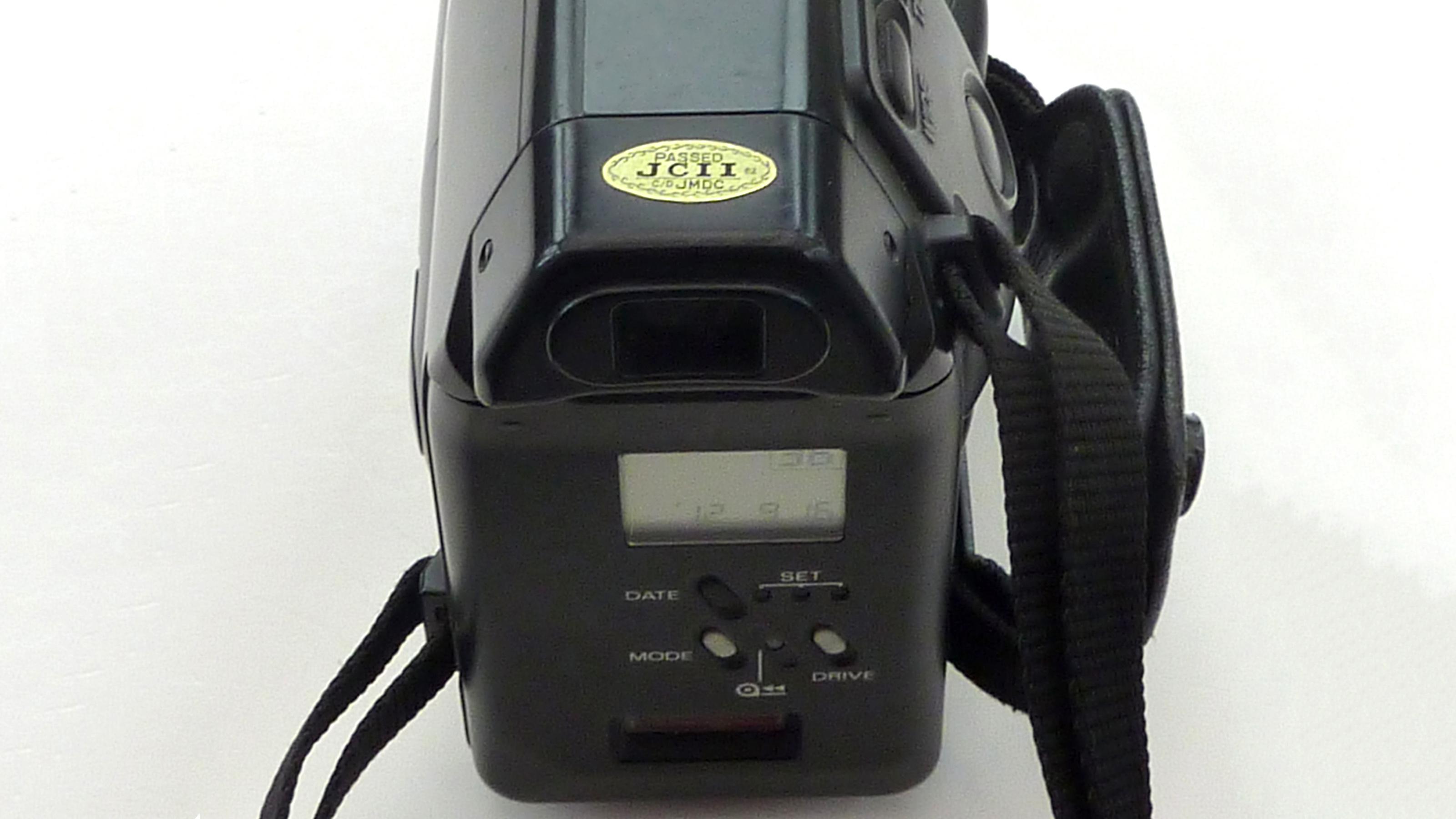 The back of the Kyocera Samurai half-frame camera