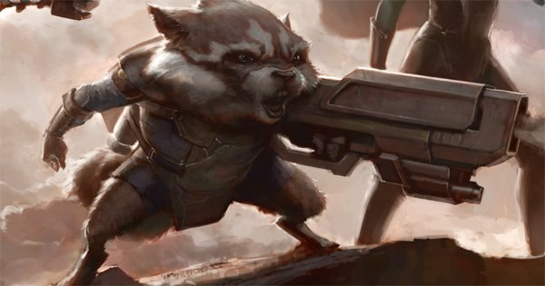 Rocket Raccoon sdcc concept art