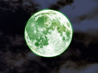 The moon will not turn green on April 20, 2016. A online rumor predicting a green full moon is nothing more than a lunar hoax.
