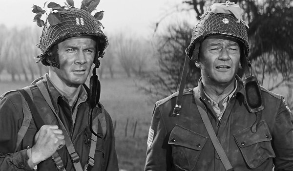 The Longest Day John Wayne out in the field of battle