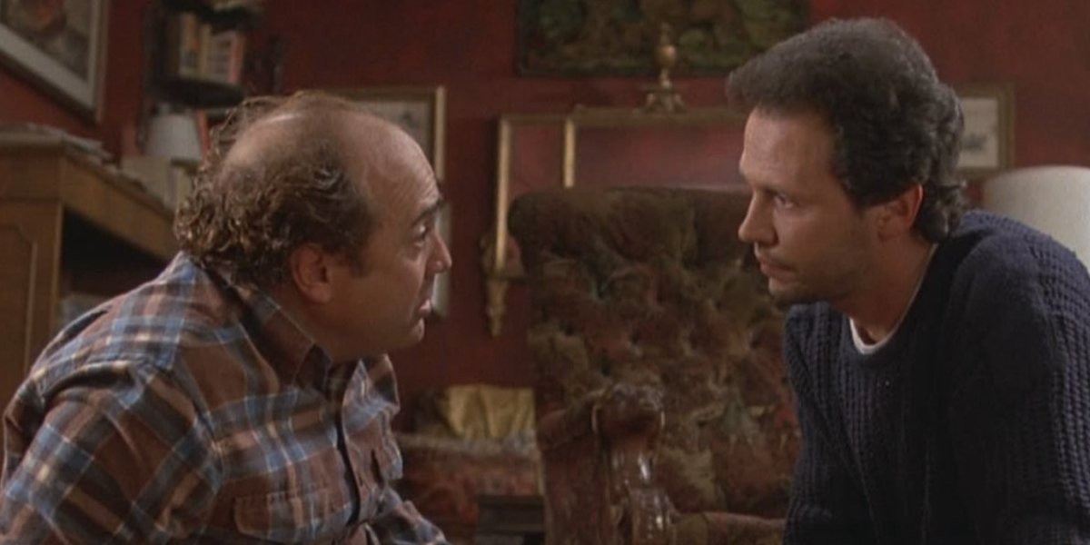 Danny Devito and Billy Crystal in Throw Momma From the Train
