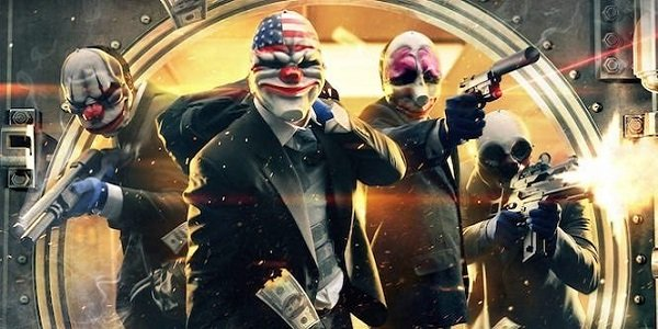 Masked criminals rob a bank in Payday 2.