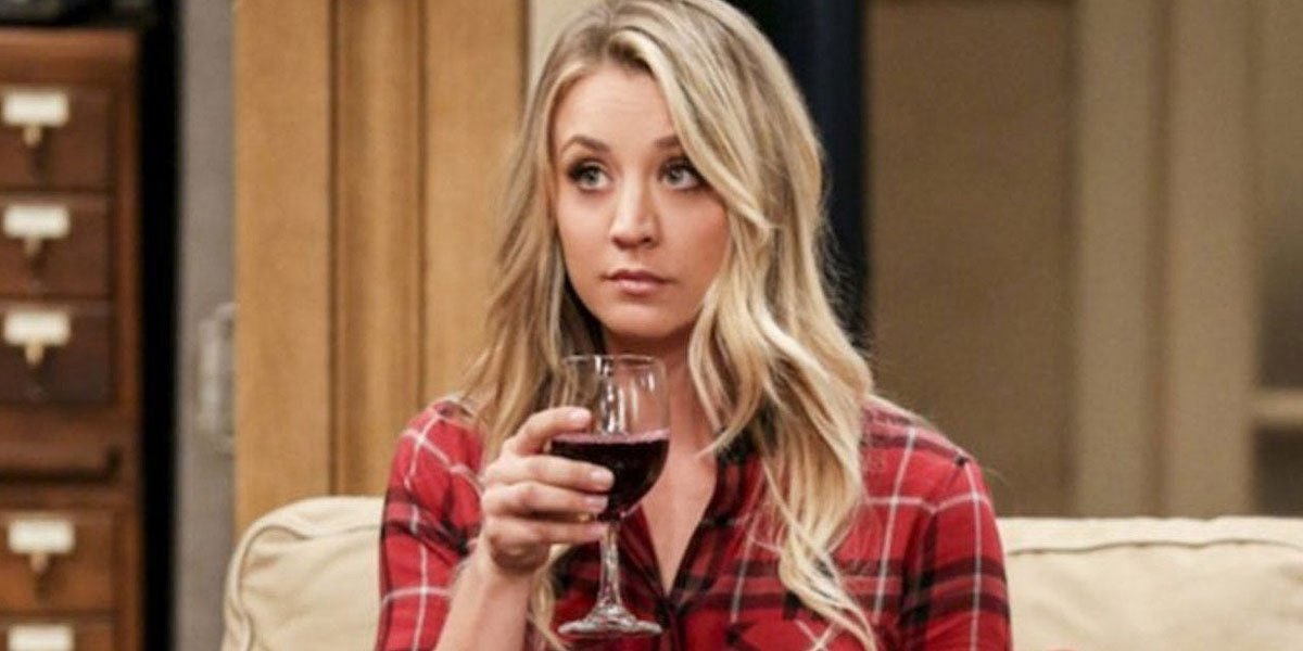 Kaley Cuoco celebrating on The Big Bang Theory