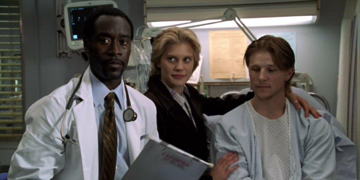 Don Cheadle, Katee Sackhoff, and Shane Johnson on ER