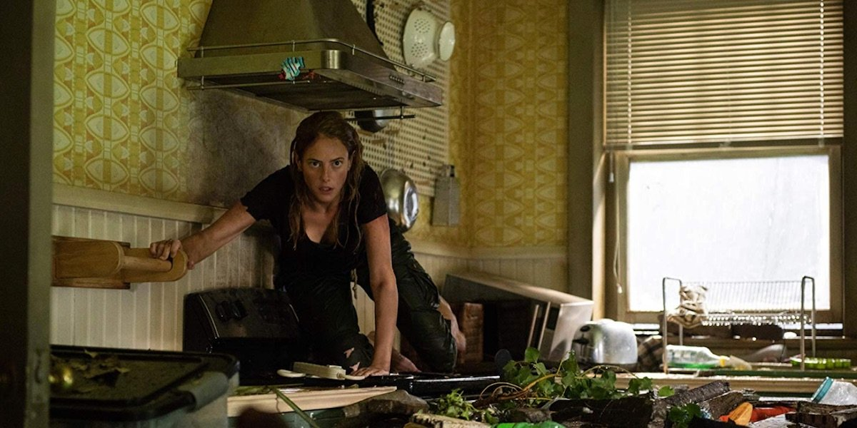 Haley in the kitchen in Crawl
