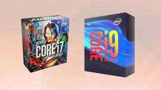Images of Intel CPU boxes.